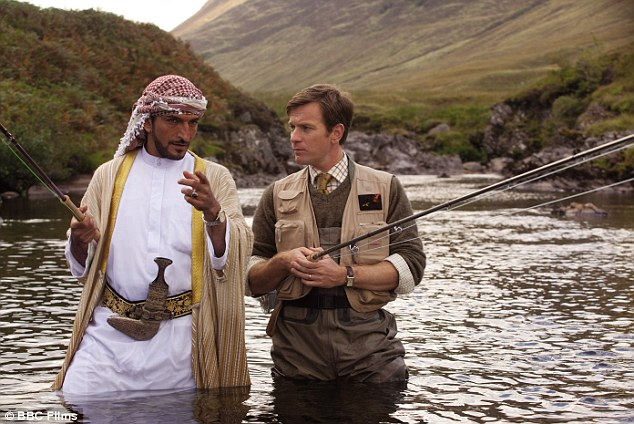 Thrown a line: Ewan McGregor has won a nomination for best actor in a comedy or musical for his part in Salmon Fishing in the Yemen