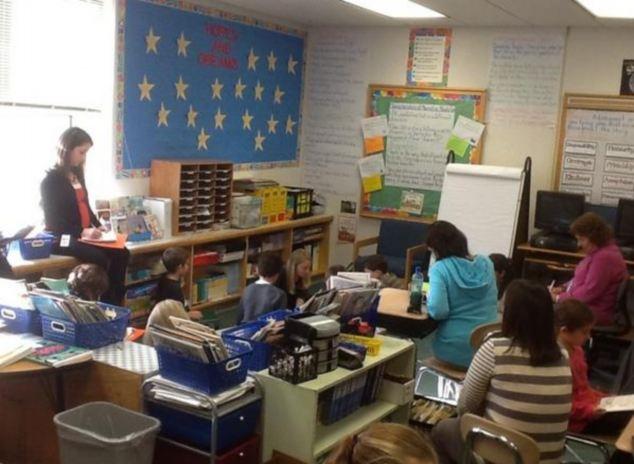 Third grade school children at Sandy Hook Elementary School, about 60 miles northeast of New York City