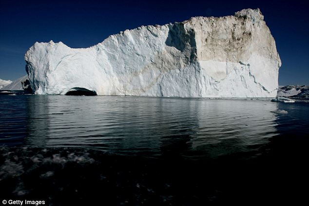 Floating ice: An icebergs floats in the Jacobshavn Bay on August 27, 2007 near the town of Ilulissat, Greenland