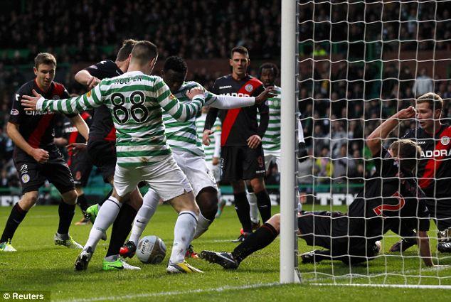 Il Cetlic Glasgow nell'ultima di Scottish League