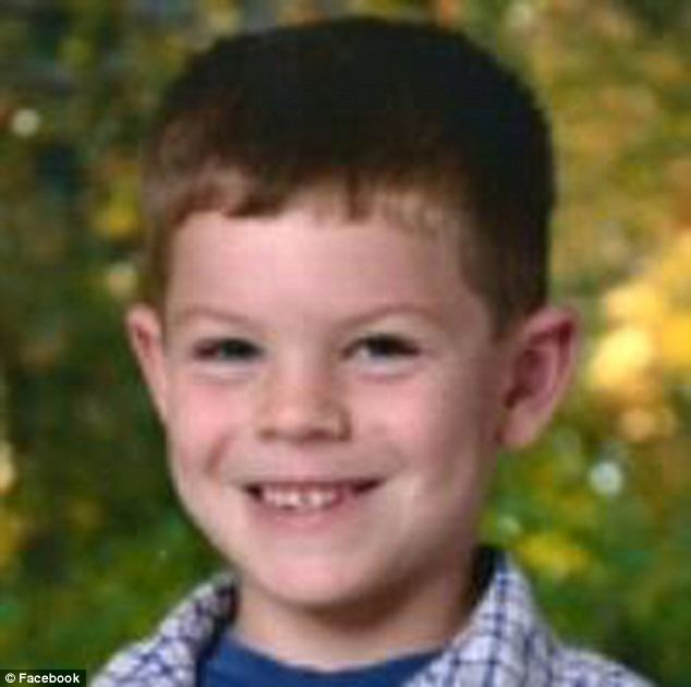 Tragic victim: Jack Pinto, 6, was one of those shot in Sandy Hook Elementary, and because he was a big Giants fan, football player Victor Cruz wore Pinto's name on his cleats and gloves during Sunday's game