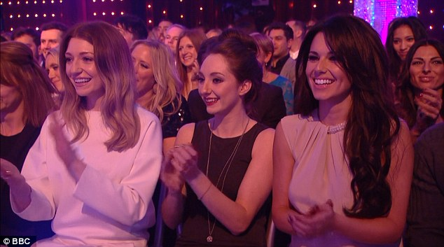 Dancing queen: Cheryl seemed to be in her element as she and bandmate Nicola Roberts saw Kimberley score a perfect 40