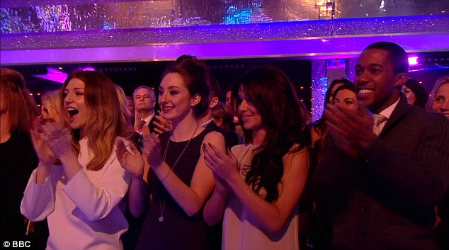 Supportive: The couple spent the evening cheering on Kimberley Walsh in Strictly Come Dancing