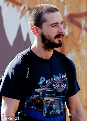 Shia LaBeouf Loses His Fresh Faced Looks As He Goes