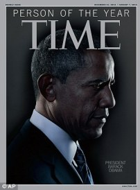 Iconic: President Barack Obama has been named as Time Magazine's Person of the Year for 2012