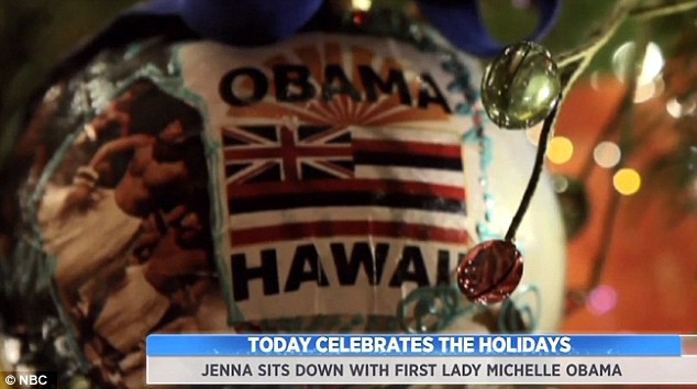 Decorations: One of the decorations at the White House is dedicated to Hawaii, where the family spent their vacation each year