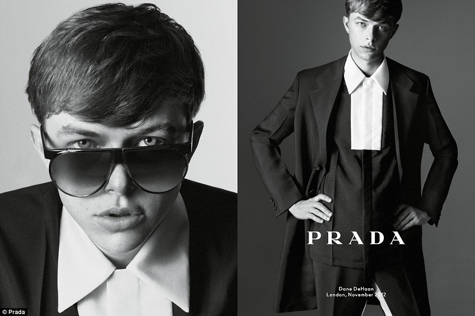 You talking to me? Dane DeHaan in Prada's simple, elegant, clean-cut spring/summer 2013 line