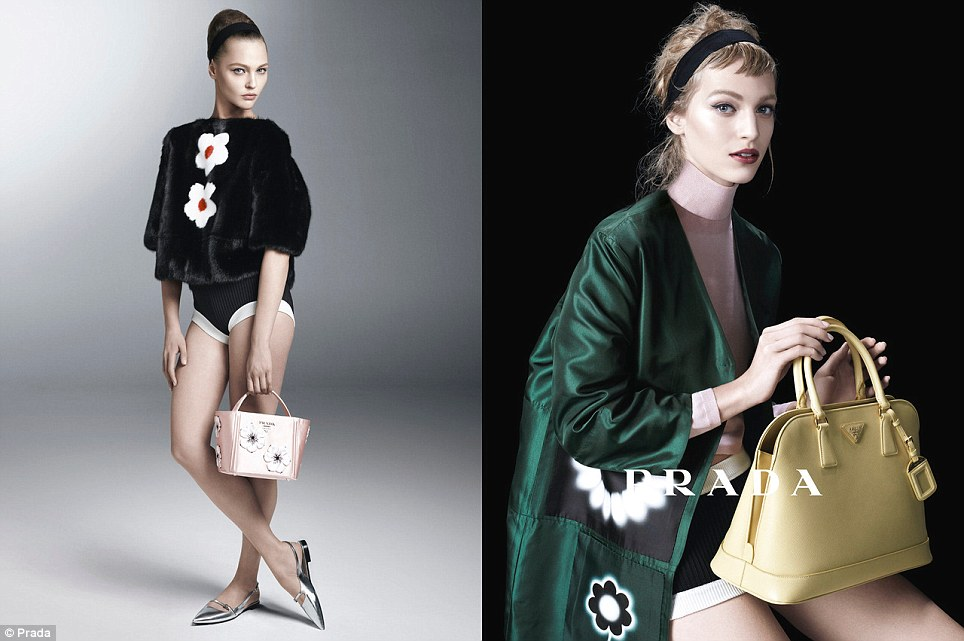 Emerald hues: Pantone revealed emerald green as their colour of 2013, and Prada is leading by example with their new womenswear line
