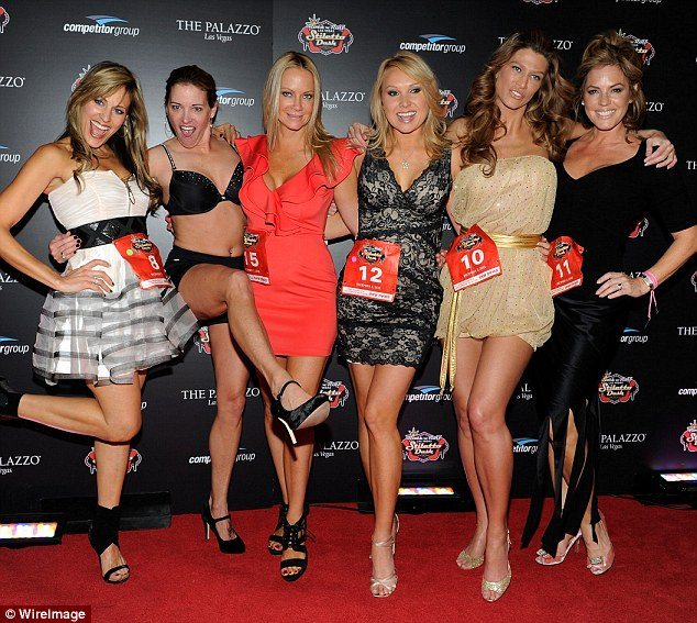 Brazen: Favor-Hamilton (second left at the event) said she started working as an escort to escape her routine