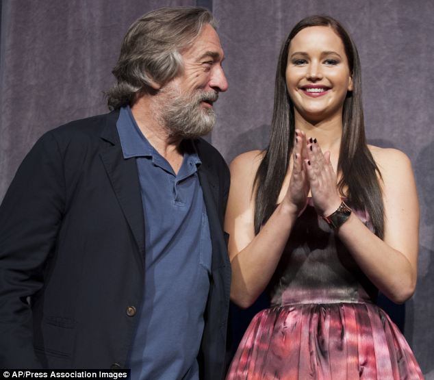 Robert De Niro, seen with actress Jennifer Lawrence at the 'Silver Linings Playbook' premiere, dislikes unnecessary violence