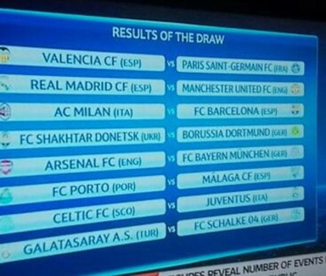 The Fixtures In Rehearsal Were The Same As The Proper Draw