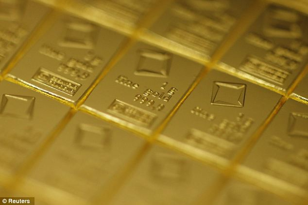 Panic buying: Sales of gold bars and coins were worth almost $77billion (£48billion) in 2011, up from just $3.5billion (£2.2billion) in 2002, according to data from the World Gold Council