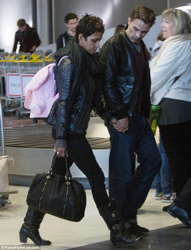 Missing Nahla: Halle Berry looked sombre as she arrived in Paris with out her daughter