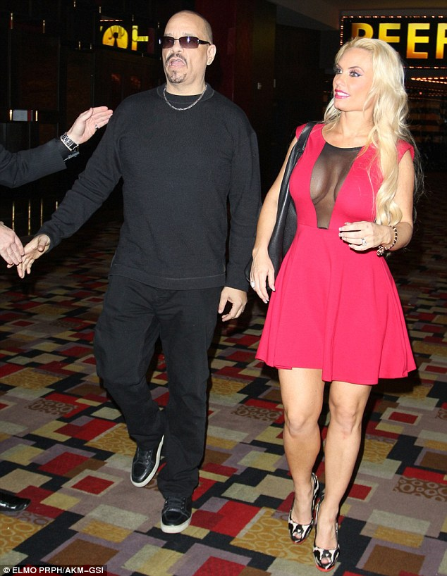 The bodyguard: Ice T has flown out to Nevada to keep an eye on his wife after rumours of infidelity