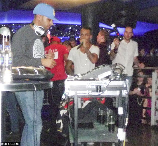 DJs: Earlier int he night, Marvin Humes had been spinning on the decks whilst his band mates took to the microphones