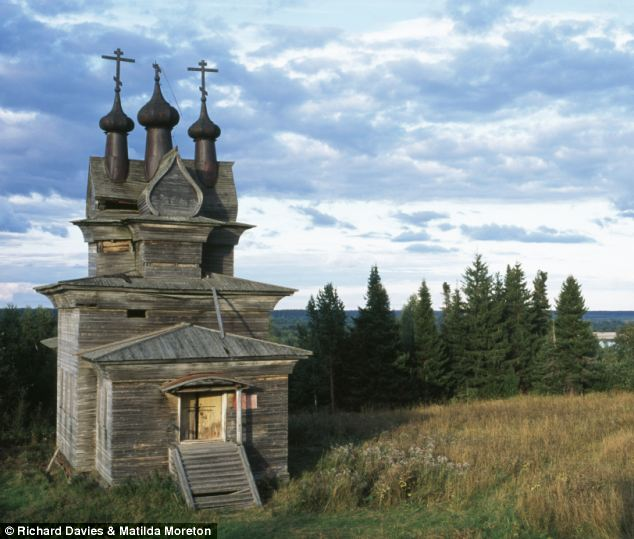 Preserved: This intricately designed church stands alone and forgotten under the wide blue sky