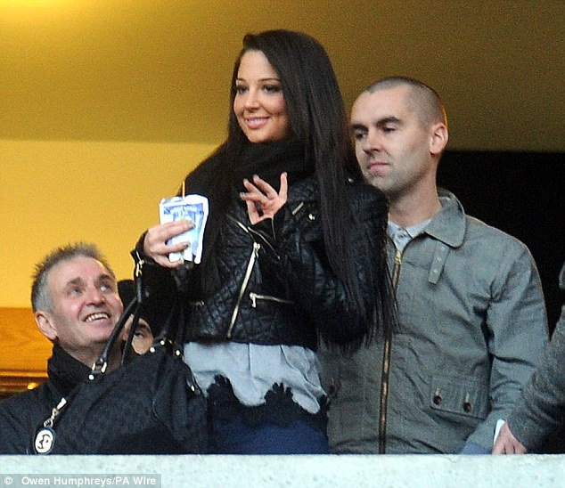Day before: Tulisa was watching her footballer boyfriend the day before the alleged row in Newcastle