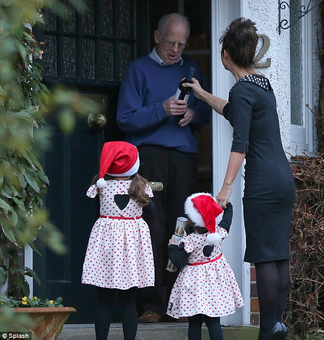 Good morning: Myleene's neighbour seemed genuinely happy and surprised at the thoughtful gesture