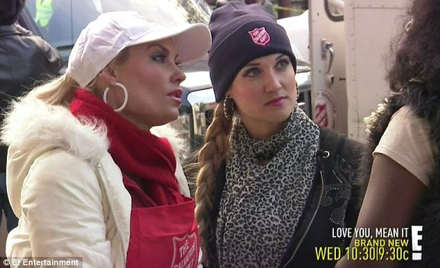 Charitable side: Coco Austin volunteers with the Salvation Army to help Sandy victims during the latest episode Ice Loves Coco
