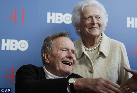 Medical woes: A spokesperson for George H.W. Bush said that a 'stubborn' fever that has plagued the former president over the Christmas break is on the rise, which forced his doctors to put him on a liquids-only diet