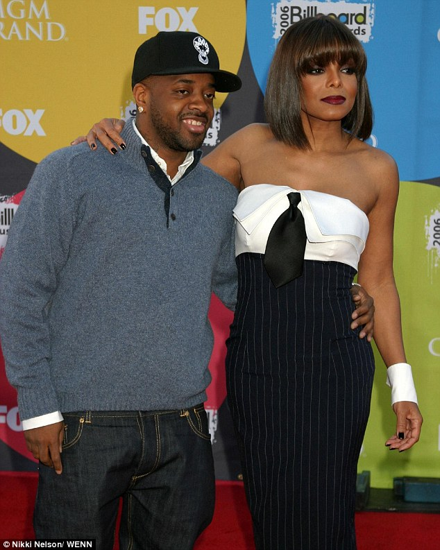 Past love: Prior to Al Mana, the Rhythm Nation songstress had an on/off seven-year relationship with record producer Jermaine Dupri