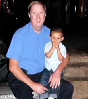 Victim: The child, 4-year-old Daniel Corby, was diagnosed with autism. He is pictured his father, Duane Corby
