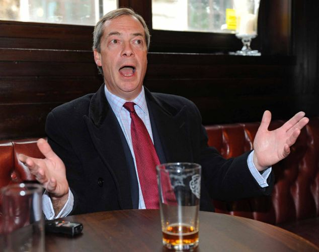 Speaking his mind: UKIP leader Nigel Farage believes 'things could really happen' for his party