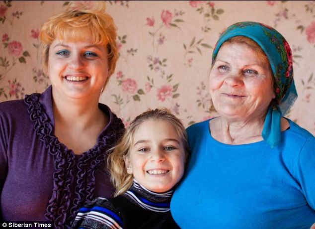 Lyudmila Steblitskaya, her daughter Anastasia, and granddaughter Nelli, all had a horrific shock