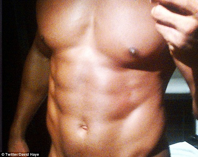 Nude! David Haye shows off his ridiculously toned body in a cheeky picture shared on his Twitter page
