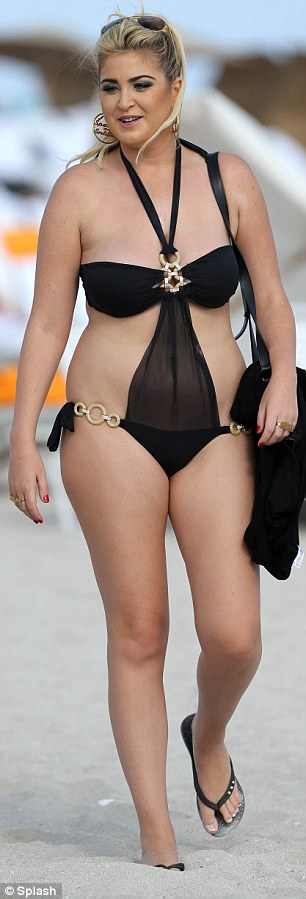 Reality star Josie Goldberg flaunts her bikini on Miami Beach, Florida