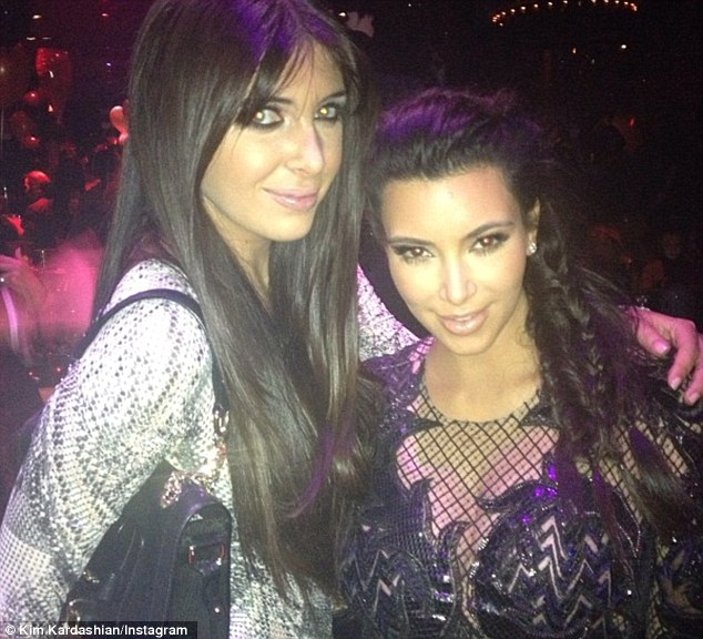 Trolled: Kim was slammed after she posted this picture with her best friend Brittny Gastineau enjoying New Year's Eve in a Las Vegas nightclub