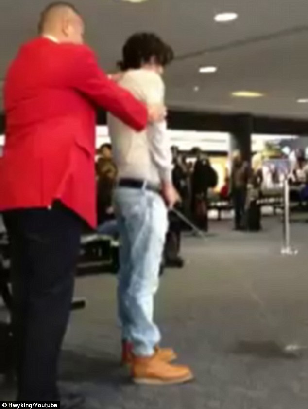 Bronson Pelletier publically urinates at LAX