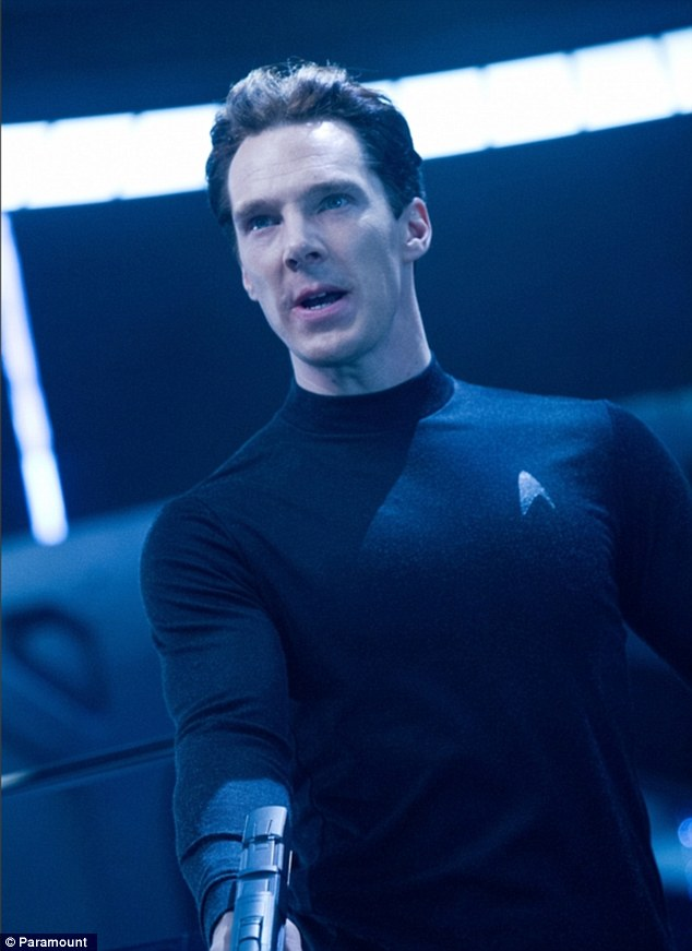 The baddie: Benedict Cumberbatch plays the film's villain though not Khan as most Trekkies expected