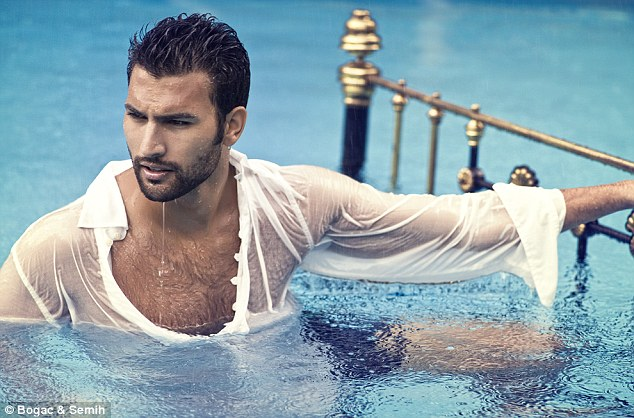 And the boys are stripping off too! Sertac Tasdelen strikes a pose for a shoot in ELLE Turkey
