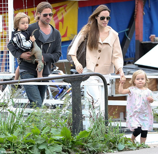 False alarm! Brad Pitt and Angelina's house became the epicentre of a police frenzy last night after one of their six children accidentally pressed panic alarm button