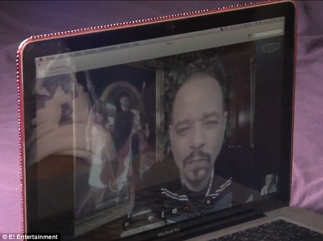What a tangled world wide web they weave: The couple have been conversing online while apart
