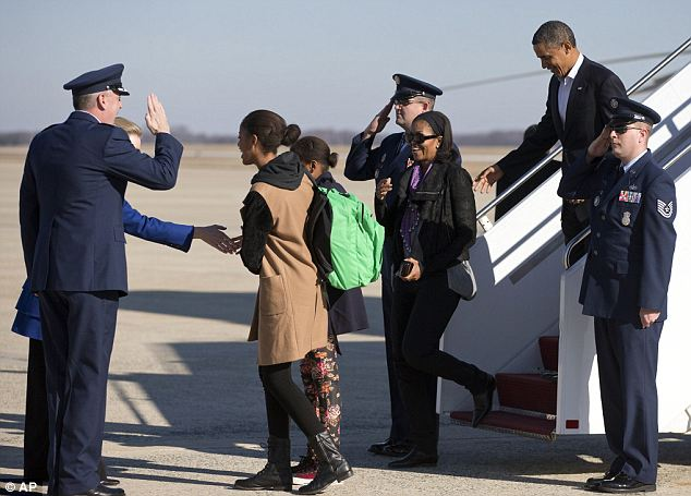 Touchdown: Obama had to return to help organize the debate over the fiscal cliff crisis
