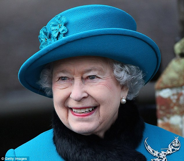 Job opening: Queen Elizabeth II (pictured a fortnight ago on Christmas Day) is recruiting a washer-up