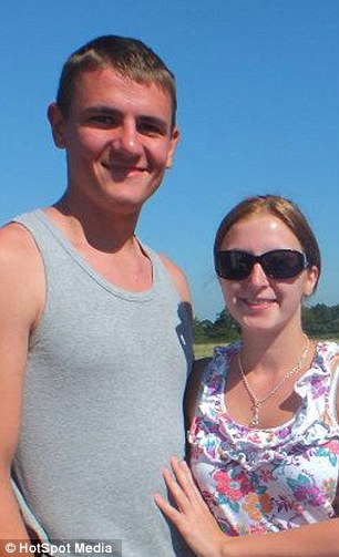 Ed Vos 19 and girlfriend Sarah Laight