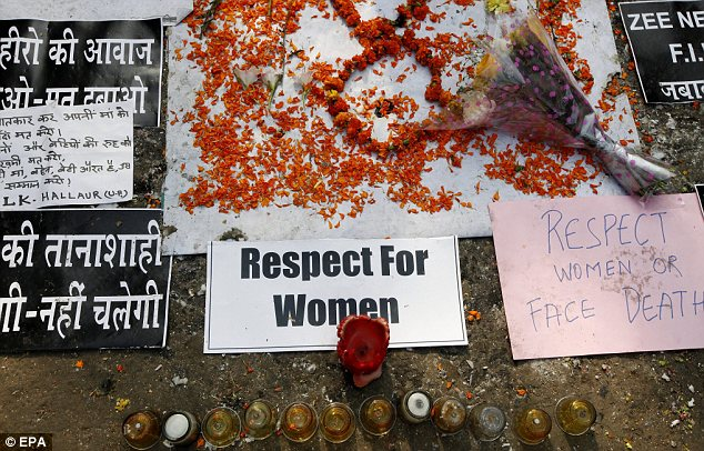 Support: The death of Jyoti Singh Pandey has been treated as a national tragedy by many Indians