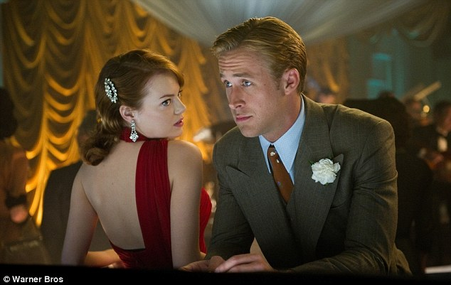 Reunited: Ryan and Emma, who starred as lovers in last year's Crazy, Stupid, Love, are reunited in Gangster Squad playing LAPD officer Jerry Wooters and gangster's moll Grace Faraday
