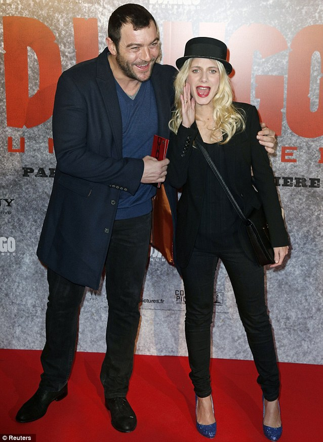 Famous in France: Actors Denis Menochet and Melanie Laurent were guests at the event