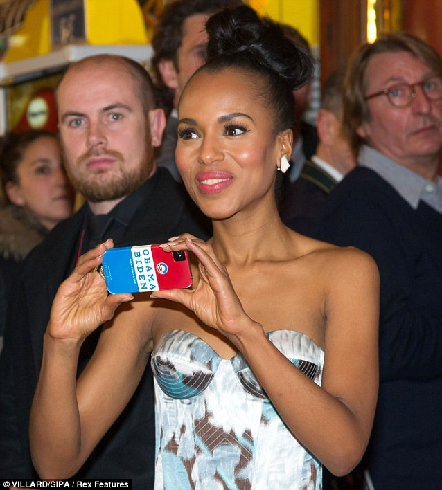 Personal touch: Kerry took her own snaps with her mobile phone