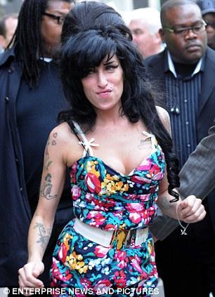 Tragic: Singer Amy Winehouse