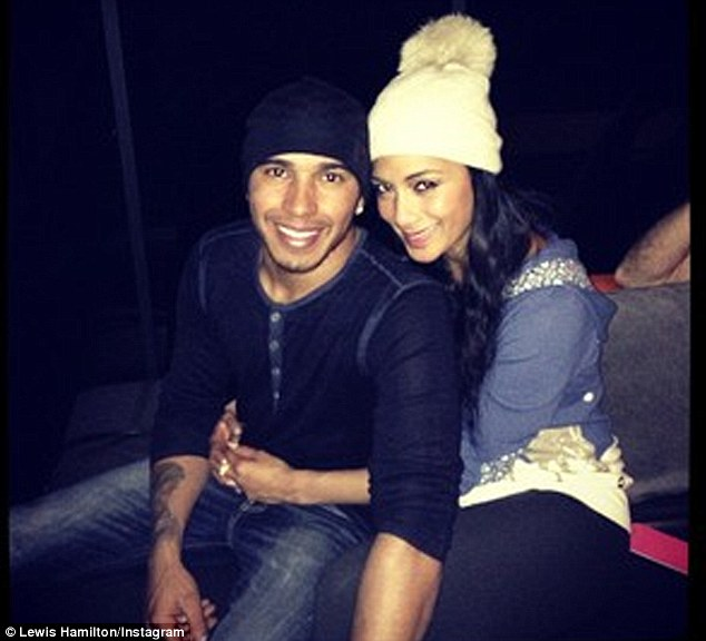 Birthday boy: Lewis spent his 28th birthday on Monday bowling with Nicole