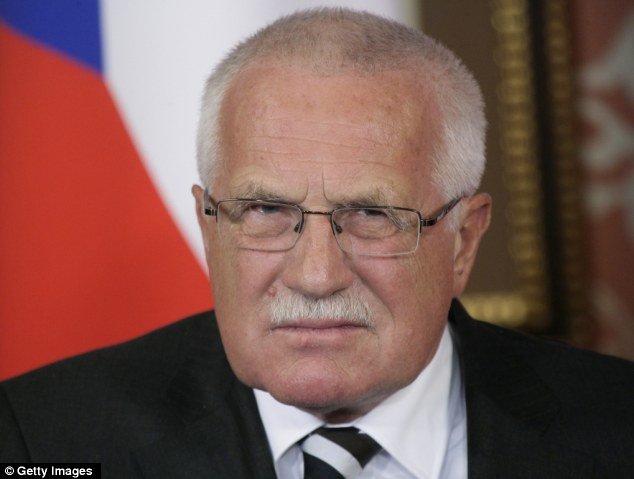Disapproval: Incumbent president Vaclav Klaus called the introduction of a popular vote and allowing independent candidates such as Mr Franz, was a 'fatal mistake'