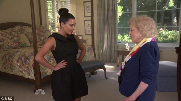 Changing style: In the comedy skit Betty tells Kim to have a make-over, before making her change into cloned clothes of her own