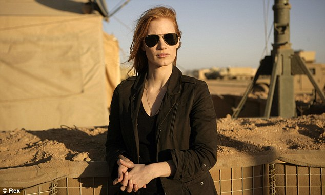Sure to be a good awards season: Jessica Chastain is nominated for her role in Zero Dark Thirty