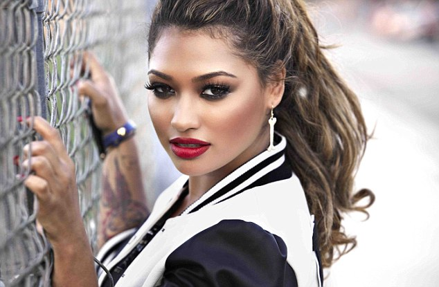 Party girl: Vanessa White is taking to role of party girl like a treat