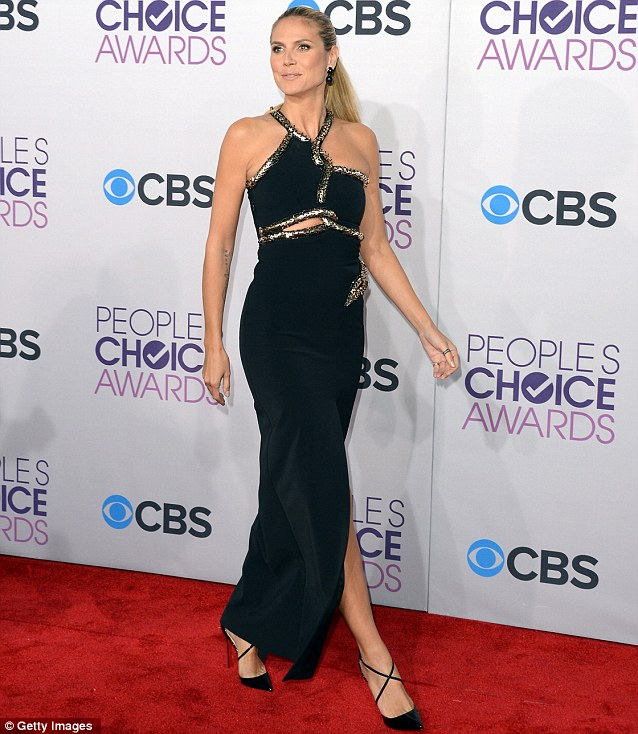 Model mother: She got glammed up for the 39th Annual People's Choice Awards earlier this week